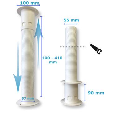"""Montage Set für Klimaanlage Kältemittelleitung 1/4""""+ 3/8"""", 1 - 25 Meter 10 m"""