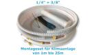 """Montage Set für Klimaanlage Kältemittelleitung 1/4""""+ 3/8"""", 1 - 25 Meter 16 m"""