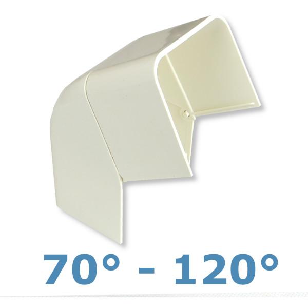 Rodigas Einstellbarer Aussenwinkel 70-120 Grad 80mm für Klimaanlagenkanal (CA 80ER)