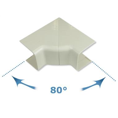 Rodigas Einstellbarer Innenwinkel 80-105 Grad 80mm für Klimaanlagenkanal (CA 80 IR)