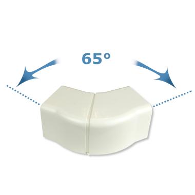 Rodigas Einstellbarer Flacher 65-130 Grad 80mm  für Klimaanlagenkanal (CA 80 PR)
