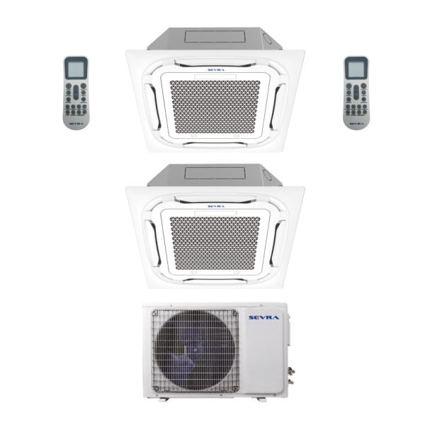 Deckenkassetten Multisplit Sevra SEV-4M36 10,5kW + 2x SEV-18MC 5,0kW