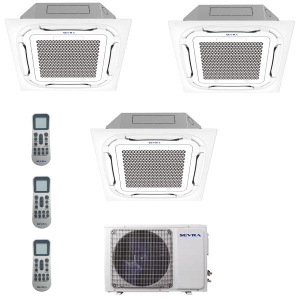 Deckenkassetten Multisplit Sevra SEV-3M27 7,9 kW + 3x SEV-09MC 2,8 kW