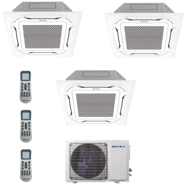 Deckenkassetten Multisplit Sevra SEV-4M36 10,5kW + 3x SEV-12MC 3,6 kW