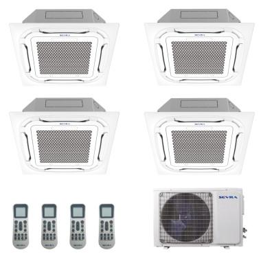 Deckenkassetten Multisplit Sevra SEV-4M36 10,5 kW + 4x...