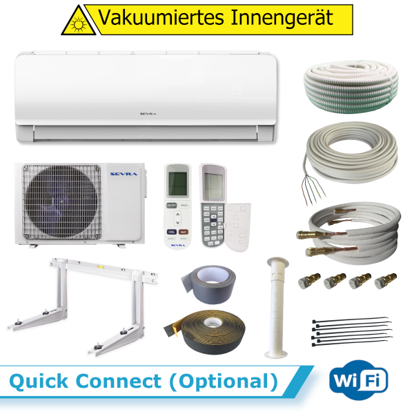 Sevra COMFORT SEV-09LS 2,5 kW WiFi + Quick Connect (Optional) 8 Meter