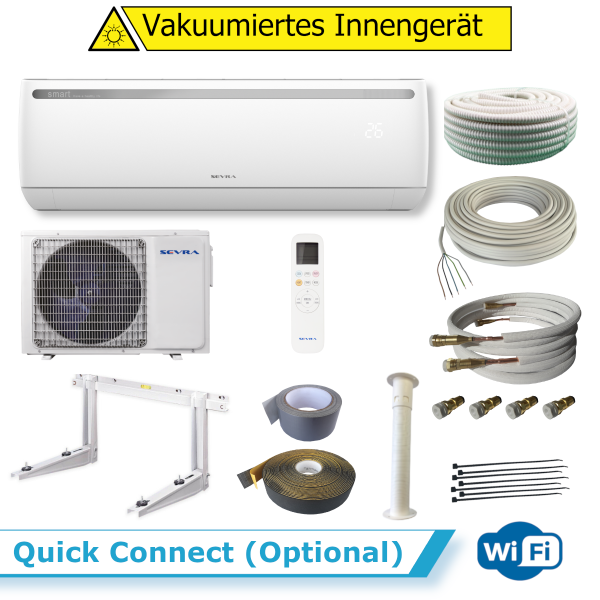 Sevra SEV-09JK/I ELEGANCE 2,5kW WiFi + Quick Connect (Optional) 4 Meter