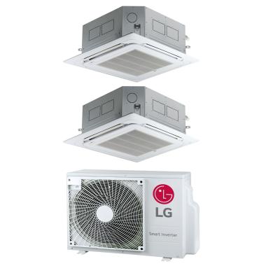 LG MU2R17 + 2x CT09F 2,6 kW oder 2x CT12F 3,5 kW