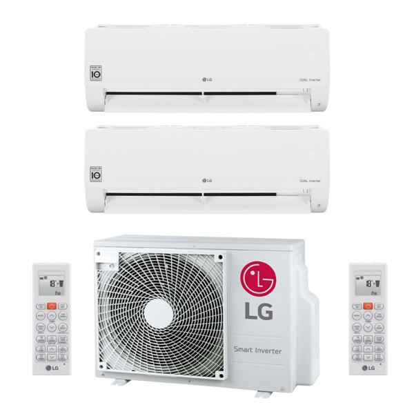 LG Standard mit WiFi MultiSplit Duo 2x S09ET 2,5 kW + MU2R15
