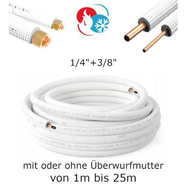 """Kältemittelleitung Kupferrohr 1/4"""" + 3/8""""..."""