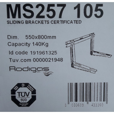 Wandkonsole für Klimaanlagen/Klimageräte Rodigas MS257 105 550x800mm