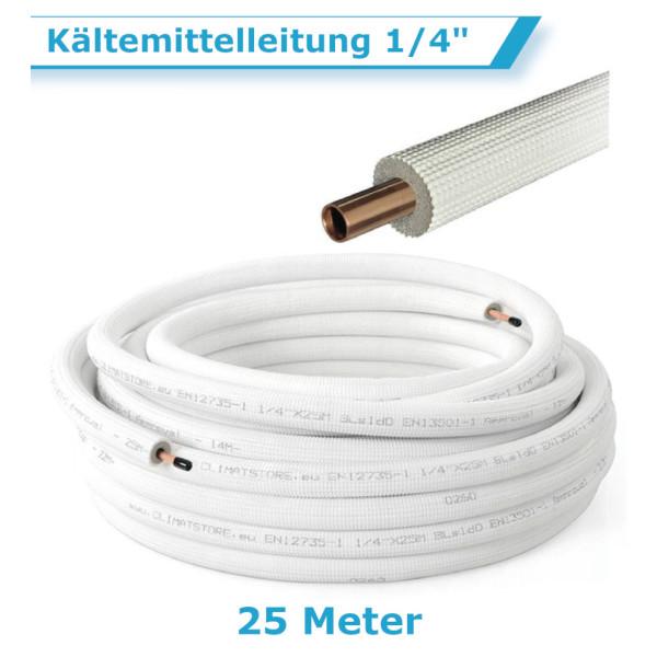 """Klimaanlage Kältemittelleitung 1/4"""" 25 Meter"""